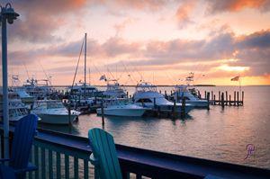Sunrise over Big Game Bimini Bahamas