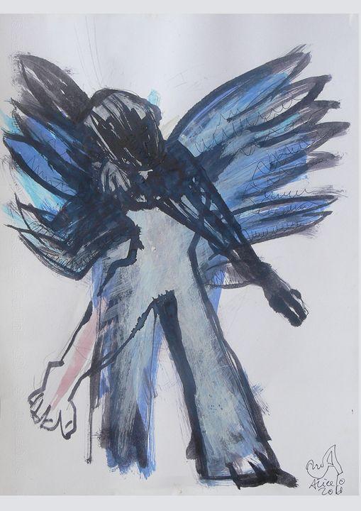 Blue Dancing Angel - Vanyska Design