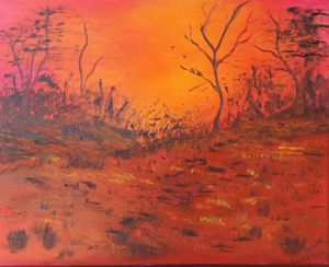 A Badlands Summer Sunset
