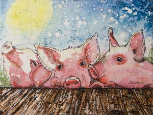 Happy Pigs in the Sun
