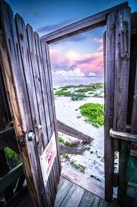Through The Door to the Beach