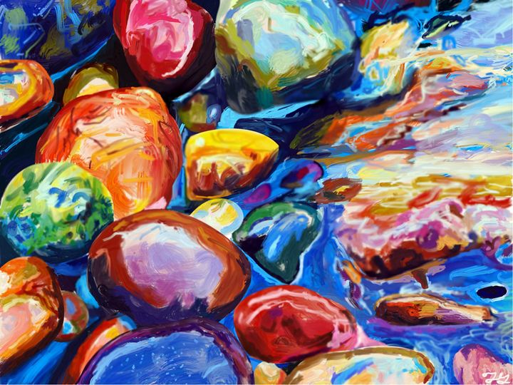Rocks in a stream - Ting-Ting Gronberg