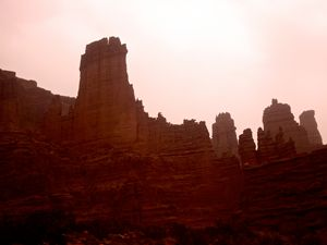 Red Rocks and Red Sky