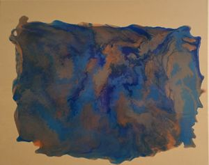 Flows of Blue and Bronze