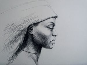 Portrait of an african woman.