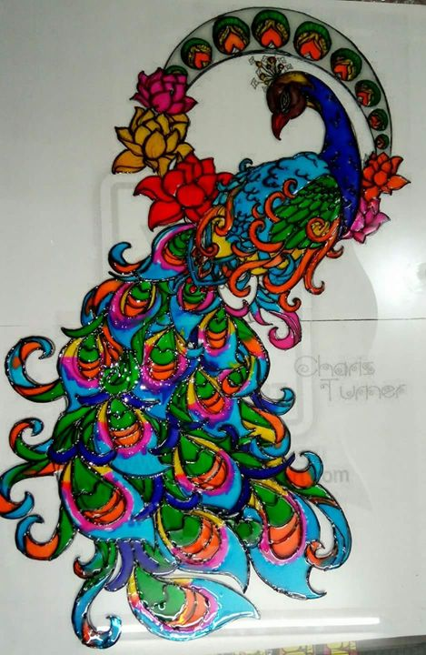 Colourful peacock - Kushi art gallery