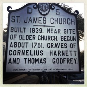 St James Church Plaque NC