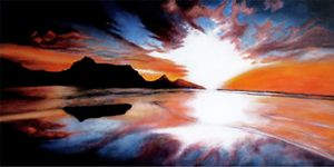 """Chasm Of Fire"" (Hand Painted Sunset"