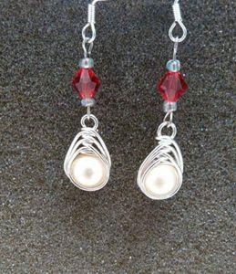 Herringbone Pearl Earrings