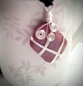 Wire wrap gemstone necklace