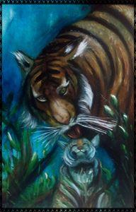 tigre affettuosa