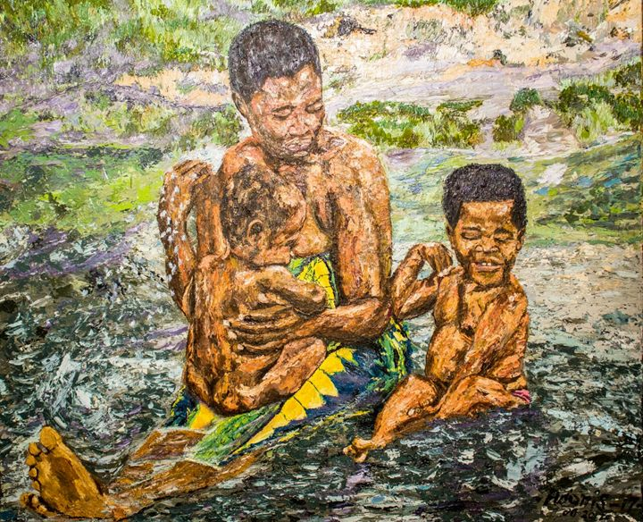 Bath in Warm Spring Water - Adonis Arts