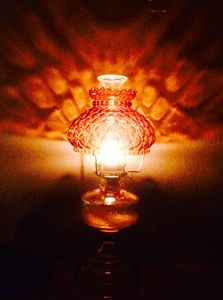 Amber Oil Lamp