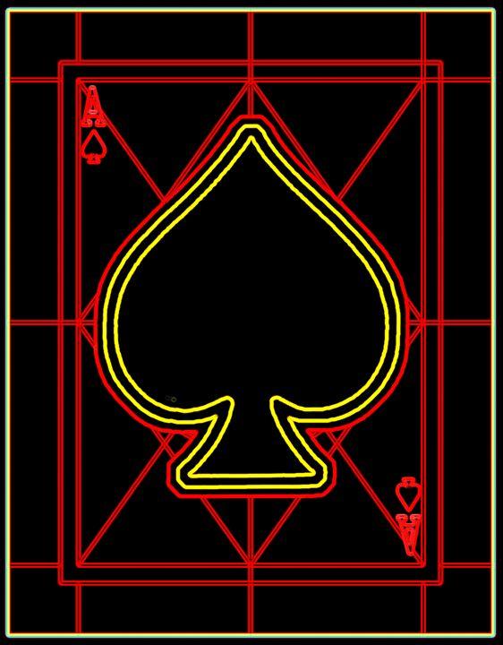 Ace of Spades - Works by Digital Artist Ron Mock