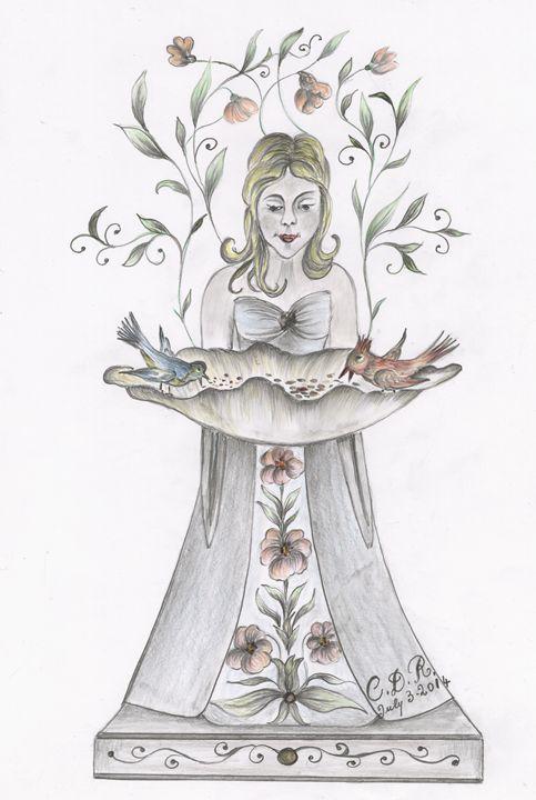 Angel Bird Feeder - Caterina DeRosa Gallery