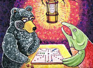 Bear and Salmon 6