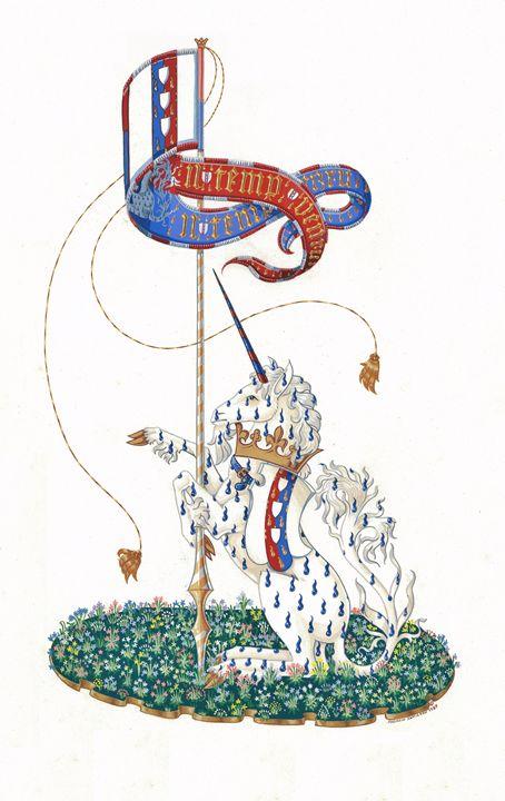 Unicorn Goutty (ASJ) - Orleans Heraldry & Fine Art