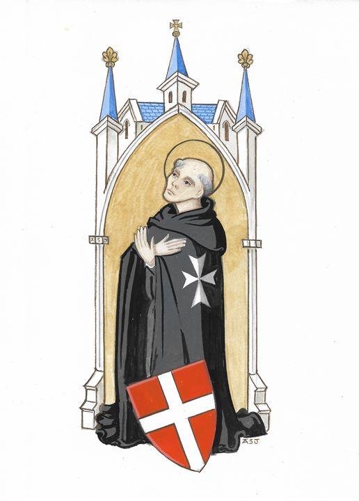 Blessed Fra' Gerard (ASJ) - Orleans Heraldry & Fine Art