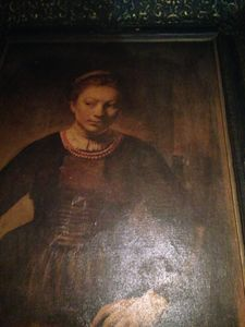 Canvas Painting signed by Rembrandt