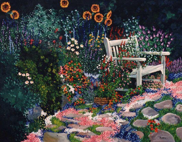Benchside at Cottage Garden - The Delaney Odyssey