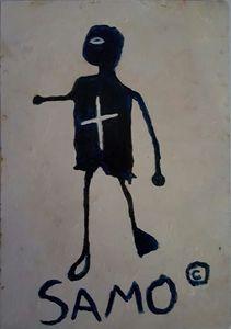 JeanMichel Basquiat NYC'80postcard