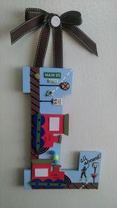 "Boy's Wall Hanging Decor ""L"""