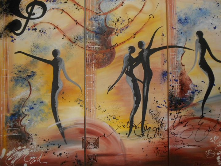 Dancers In Paradise - Denise's Regal Art