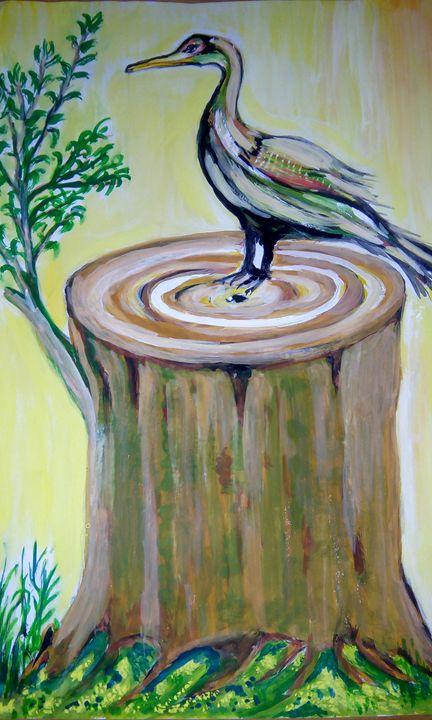 Bird on a tree - Vishwa Mohan dubey