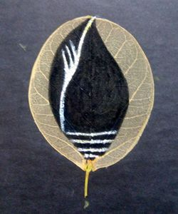 Painting on a leaf