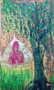 Buddha with tree