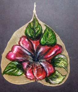 A flower on  a leaf