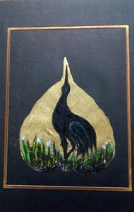Painting with black bird