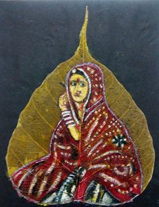 Rajasthani Women on  a leaf