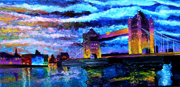 Moonrise over Tower Bridge - Color Distributions