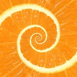 Spiral Citrus Orange Droste
