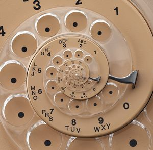 Retro Rotary Dial Spiral Droste