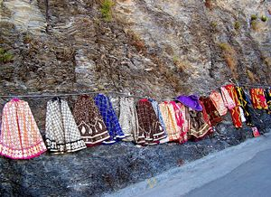 Clothes Hanging on Hillside