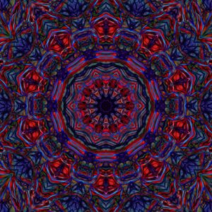 Red Blue Abstract kaleidoscope
