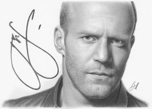 Portrait of Jason Statham.