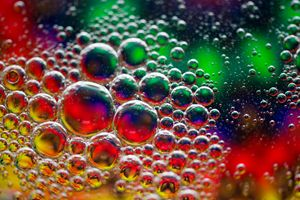 colorful oil bubbles