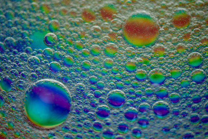 colorful oil bubbles - Aleksei lomanov