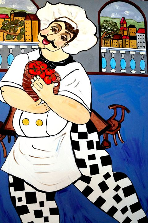 HAPPY CHEF - NORA SHEPLEY FINE ART