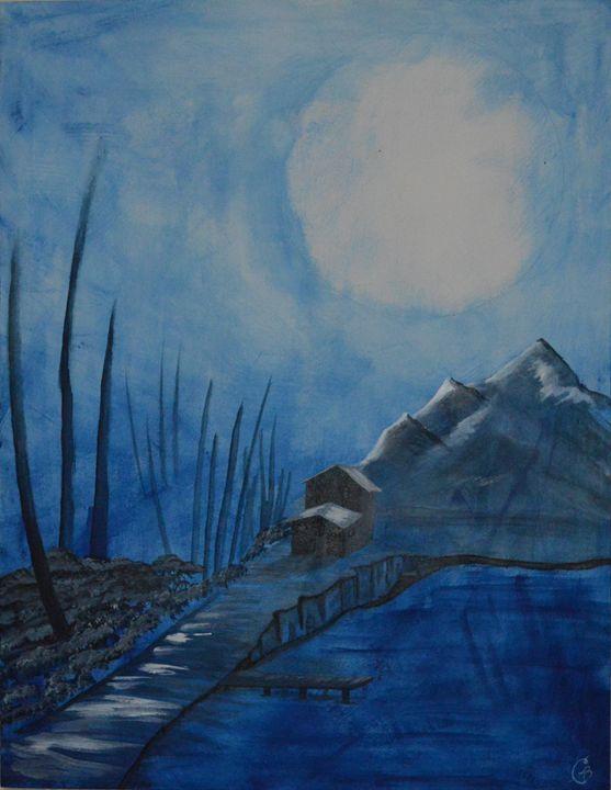 Moonlit Cabin - Cassandra Barnhart