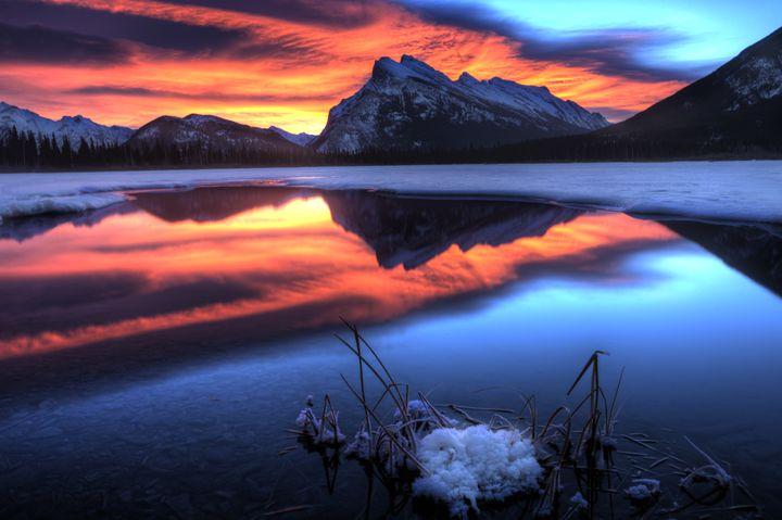Vermillion Lakes Mount Rundle - Fine Art Photography