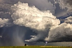 Prairie Storm Clouds and Lightning - Fine Art Photography