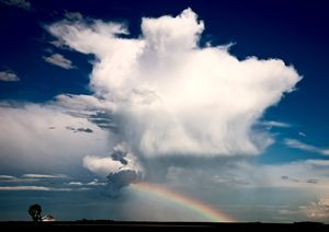 Prairie Storm Clouds and Rainbow - Fine Art Photography