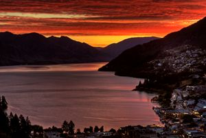 Queenstown New Zealand Sunset - Fine Art Photography
