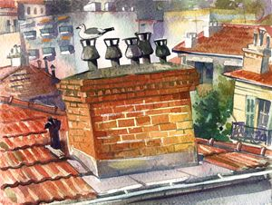 Roofs of Nice 1