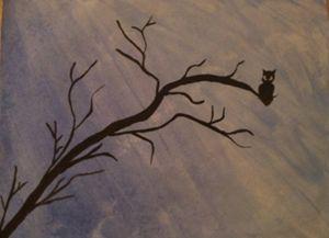 wise owl in the rain