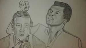 Howard Cosell enterviews Muhamad Ali